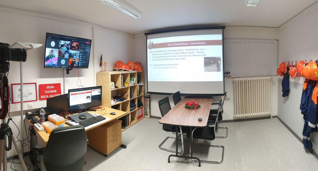 Online-Schulungsraum der Jugendfeuerwehr Berlin-Kaulsdorf